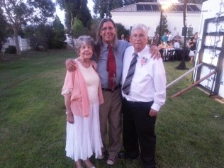 Dave poses with his Mom & Dad