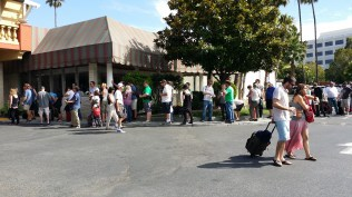 This is the line for the registration desk at our hotel AFTER we waited 40 minutes to register!!