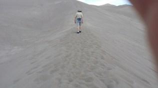Randy starting the trek