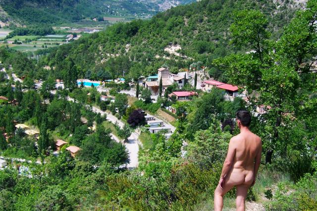 Overlooking Origan Village near Nice