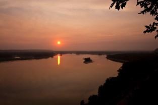 Mississippi Palisades Sunset