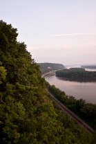 Mississippi Palisades with Railroad