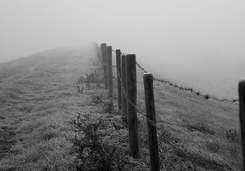 black and white photo of a barbed wire fence on a foggy day, Making faith practical, long distance family, Babs Mullinax, me and grace, me & grace, caring for your family, ideas for family, Bible study, encouragement from the Word, understanding Scripture