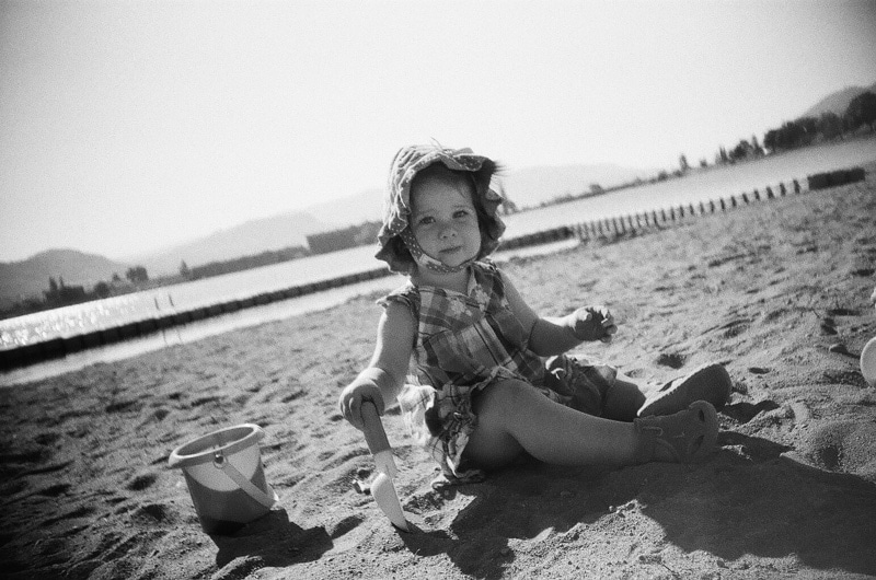 The little one in the sand