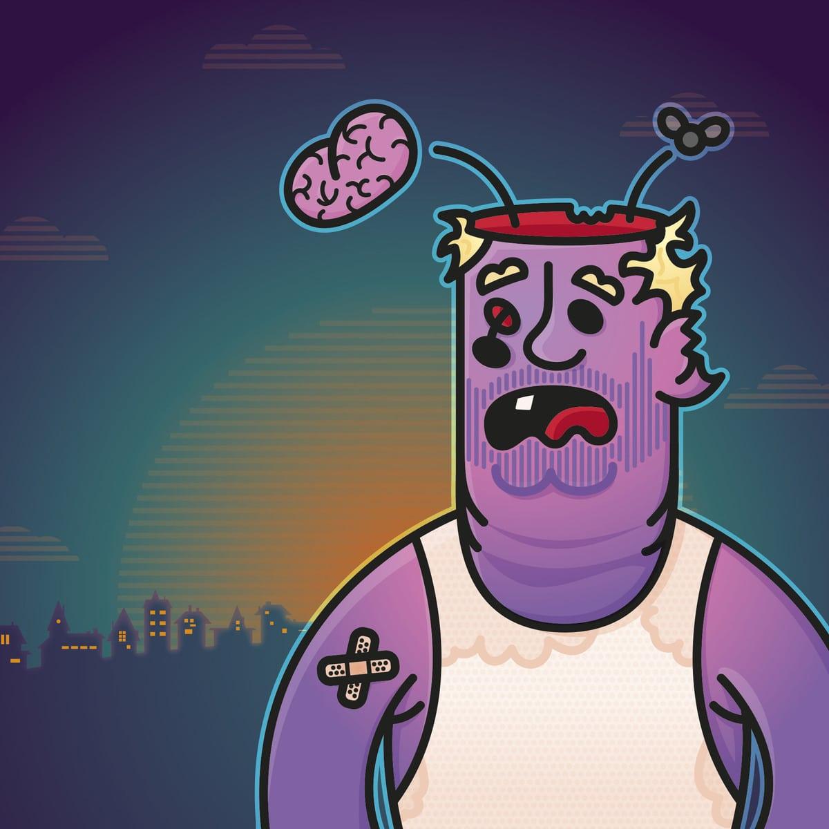 Zombie Halloween Illustration