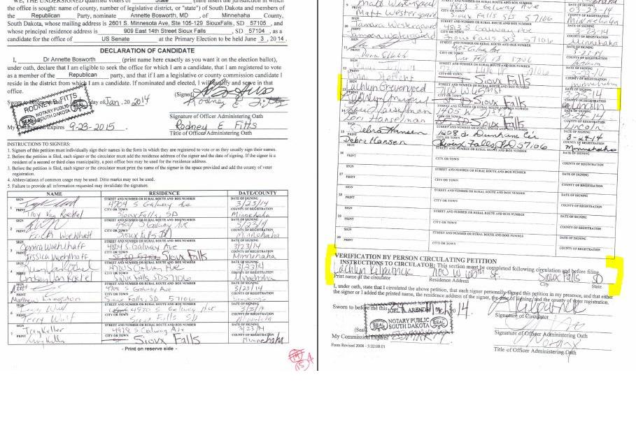South Dakota GOP Ignores Registered Voters Hit List