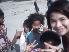 with the aeta kids