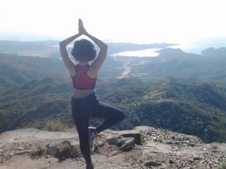 the mandatory yoga pose