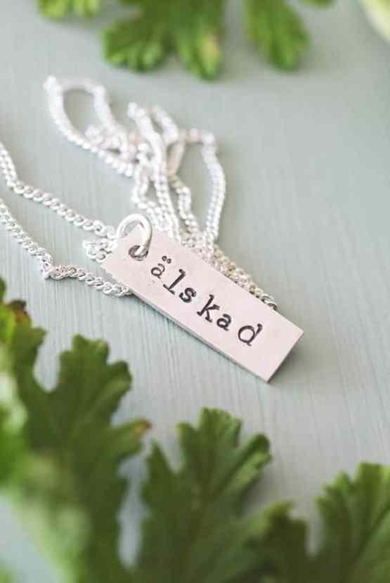 Handgjort smycke: Älskad