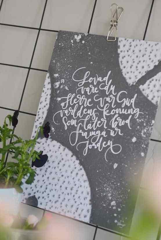 Poster: Lovad vare Du, Herre vår Gud