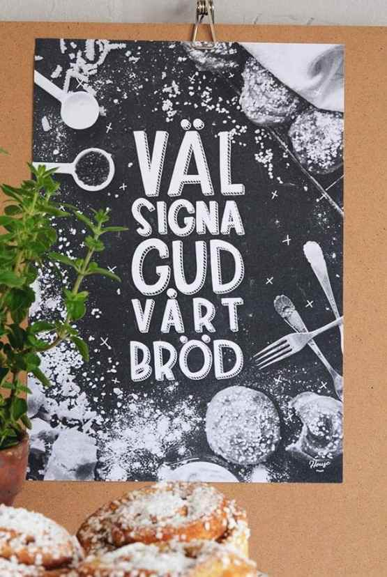 Poster: Välsigna, Gud, vårt bröd
