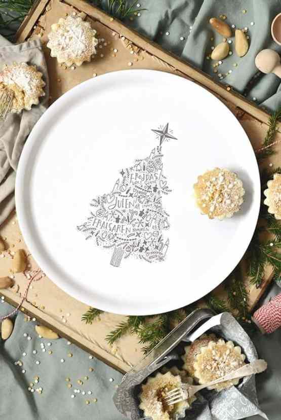 Rund bricka: Fröjdas vart sinne, julen är inne