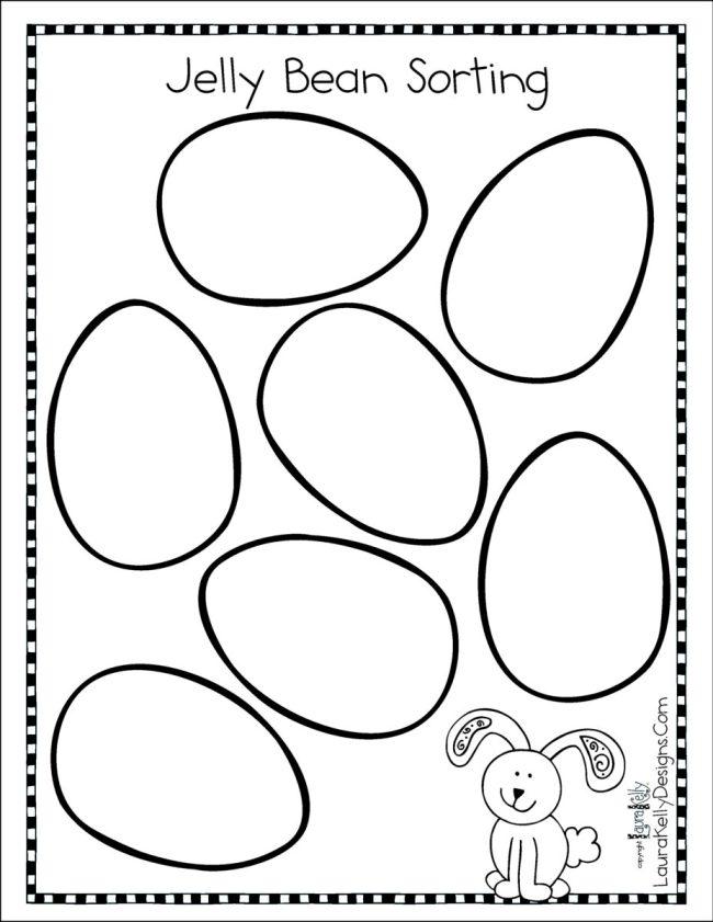 Jelly Bean Sorting Printable Easter