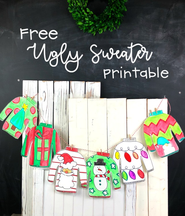 Free Ugly Sweater Printable