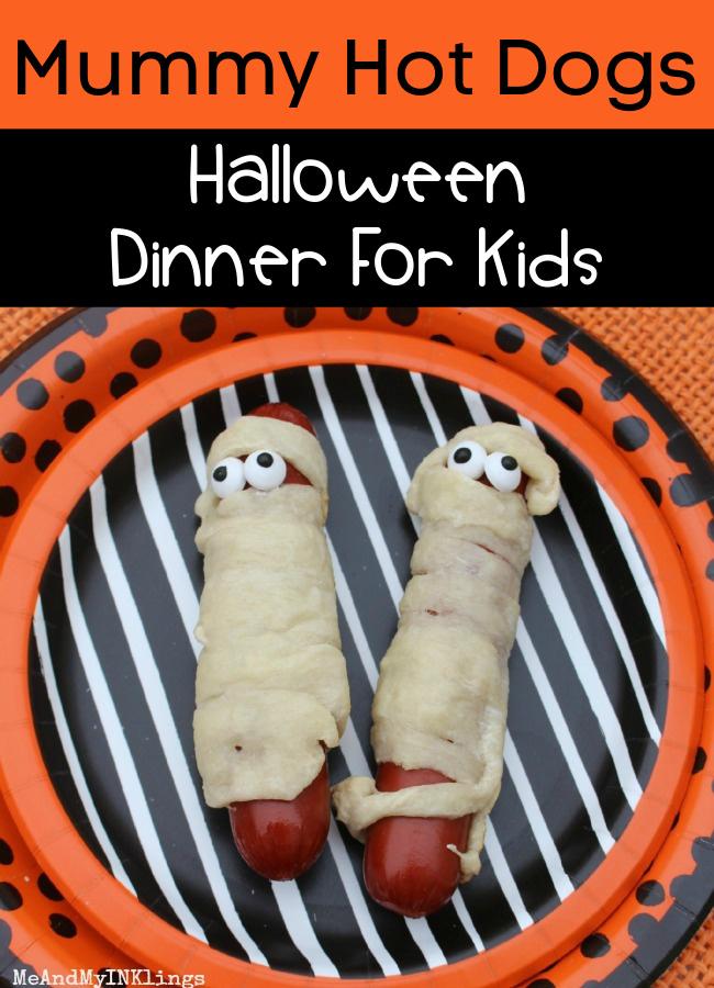 Mummy Hot Dogs Halloween Dinner for Kids