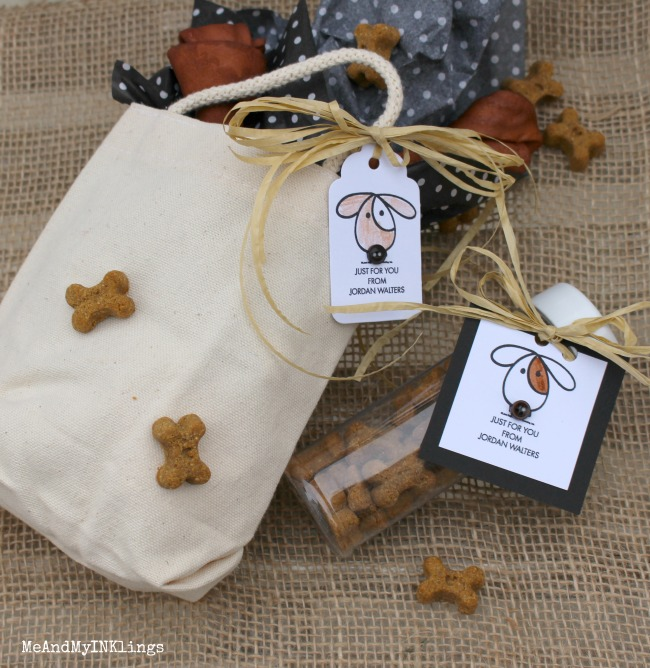 Puppy Gift with Personalized Expressionery Gift Tag