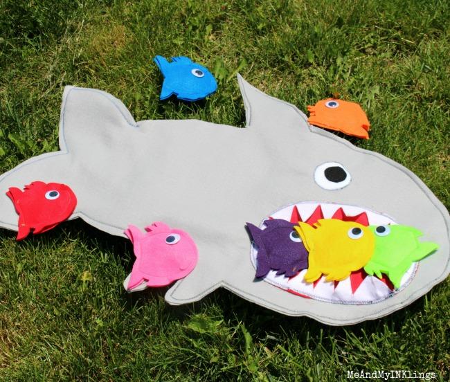 Shark Game Beanbag Toss Scoring