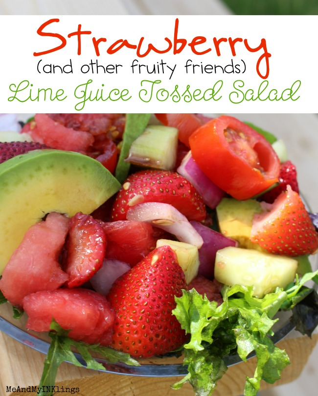 Gluten Free Strawberry Lime Juice Tossed Salad