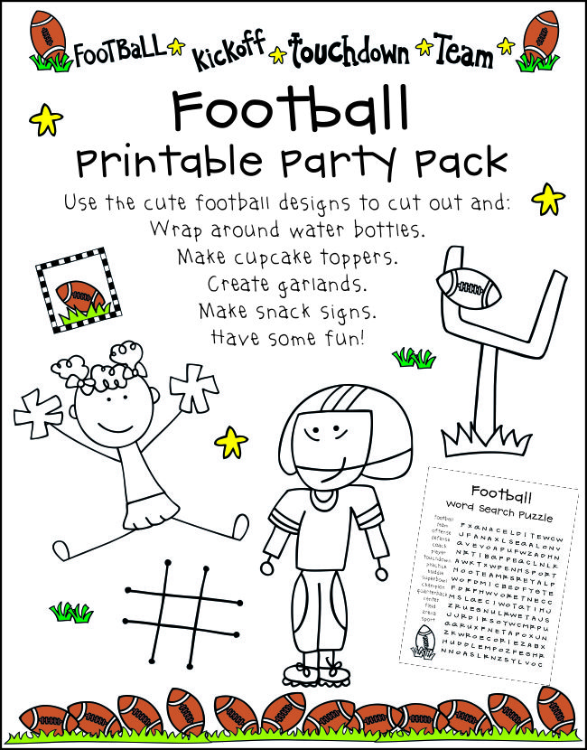 Super Bowl Party for Kids With Printables