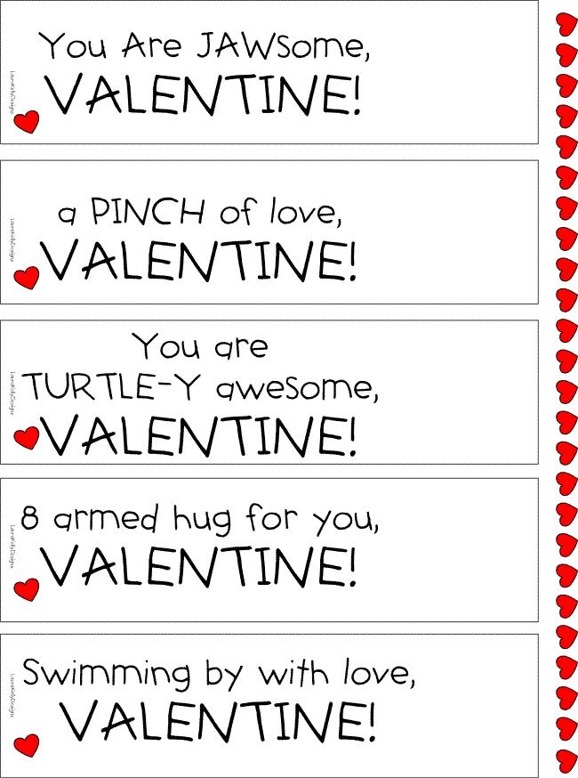 Sea Life Valentine Printable Laura Kelly