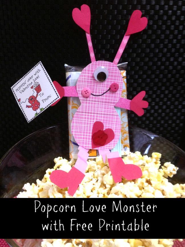 Valentine Monster Printable Free