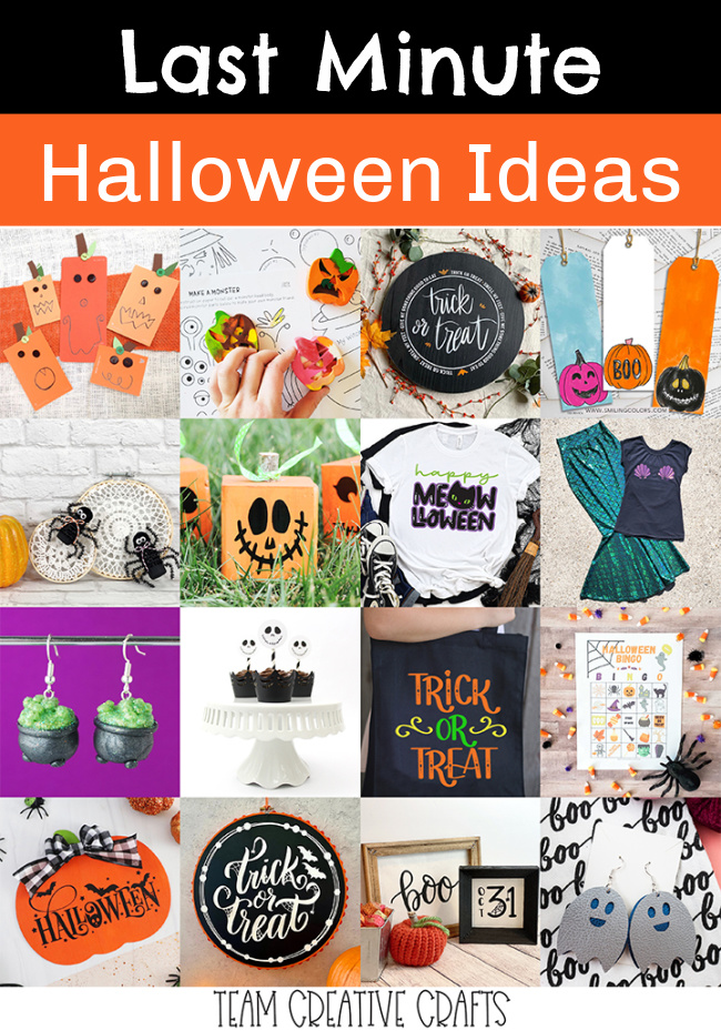 Last Minute Halloween Ideas #halloweenideas #halloweendiy
