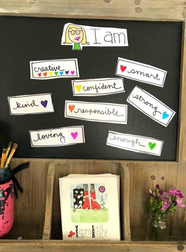 I am Statements DIY Magnetic Board