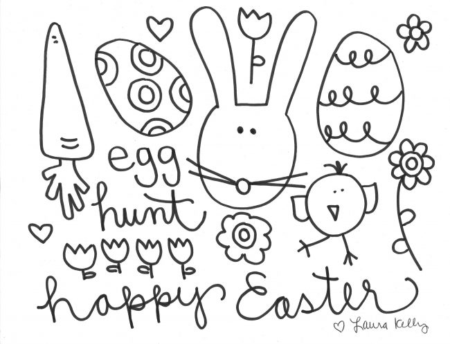 Easter Coloring Printable FREE Download