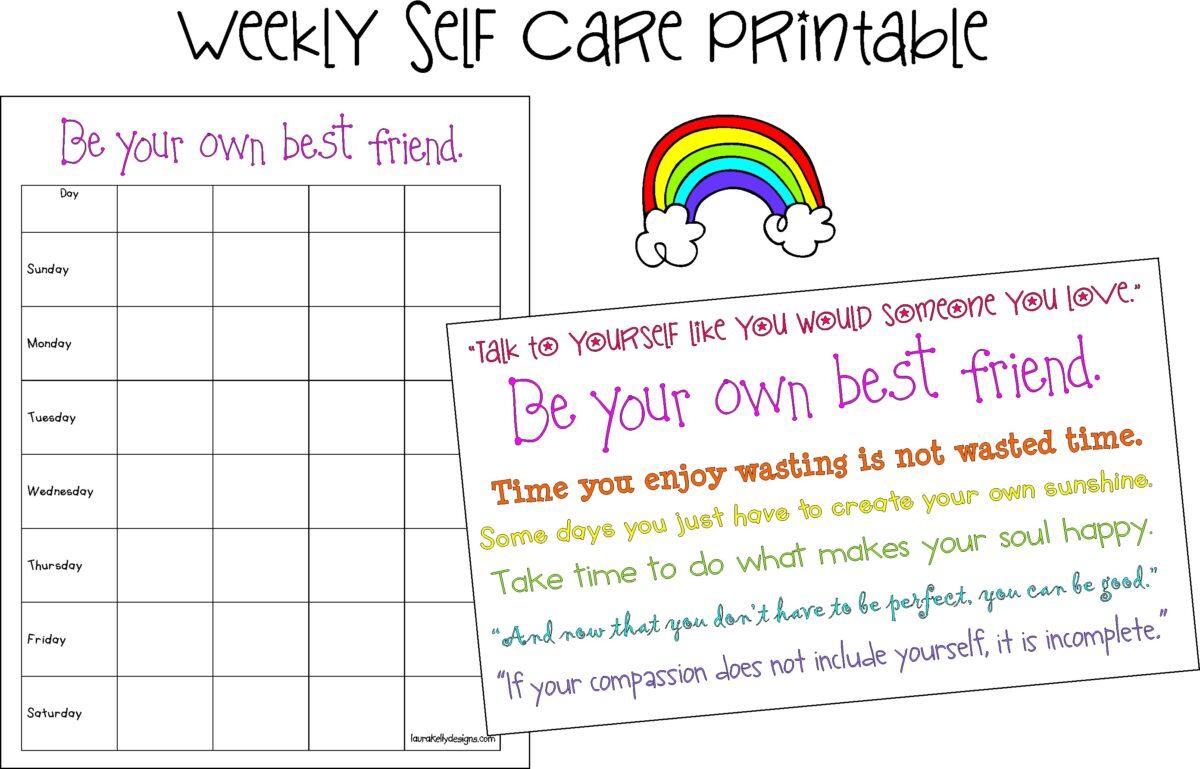 Weekly Self Care Planning Printable