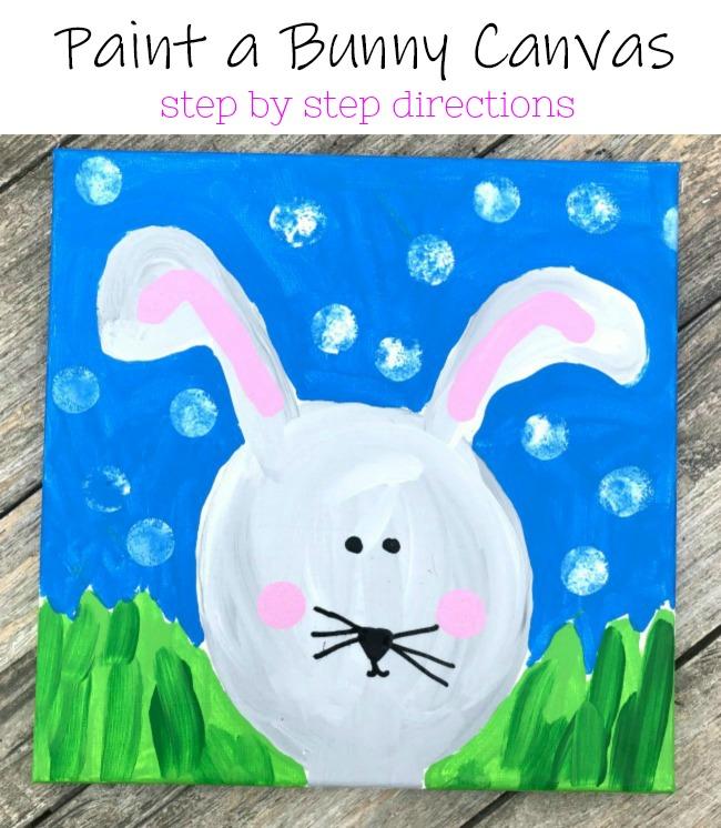 Paint a Bunny Canvas