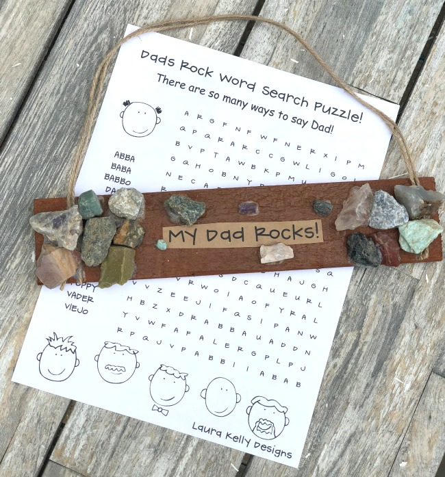 Father's Day Wordsearch Word Search Printable Puzzle My Dad Rocks