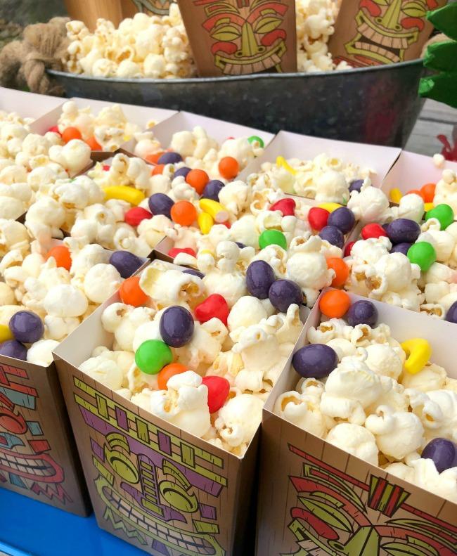 Tiki Luau Popcorn Boxes