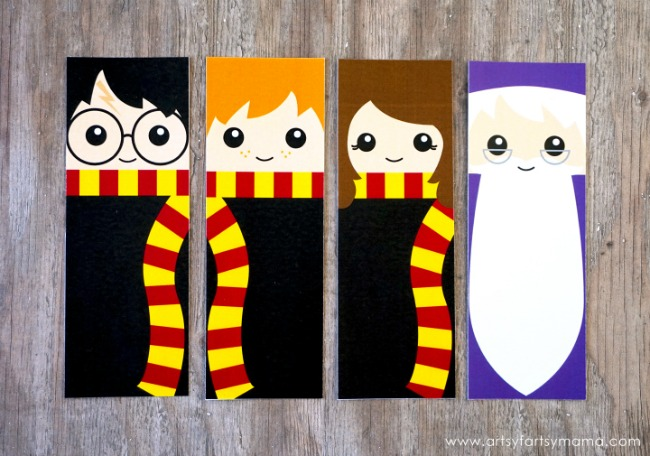 Harry Potter Free Printable Bookmarks by Artsy Fartsy Mama