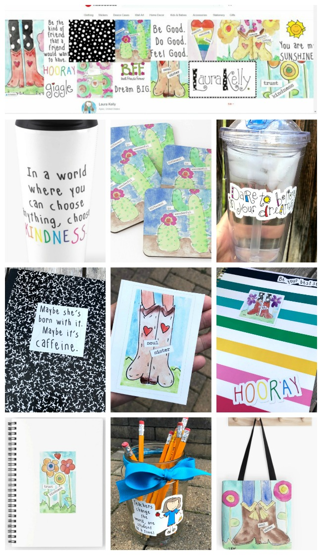 Laura Kelly for Redbubble Designs on Products and STICKERS