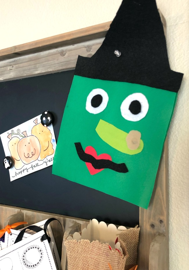 DIY Halloween Witch Decoration