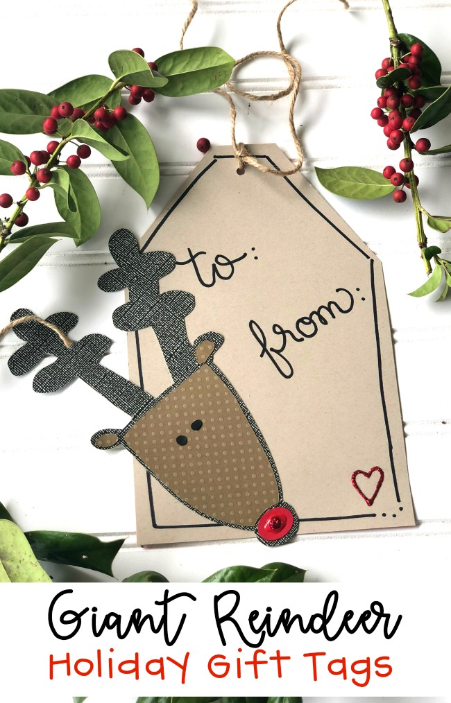 Giant Reindeer Holiday Gift Tags