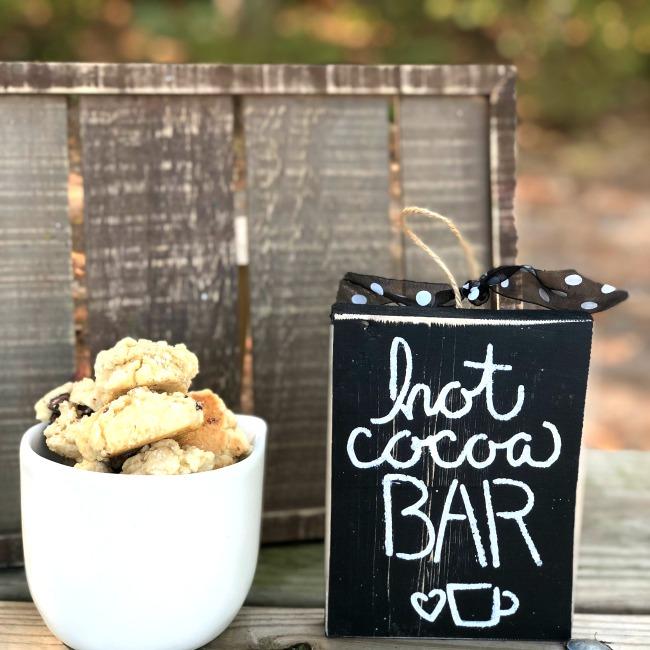 Wooden Sign Hot Cocoa Bar