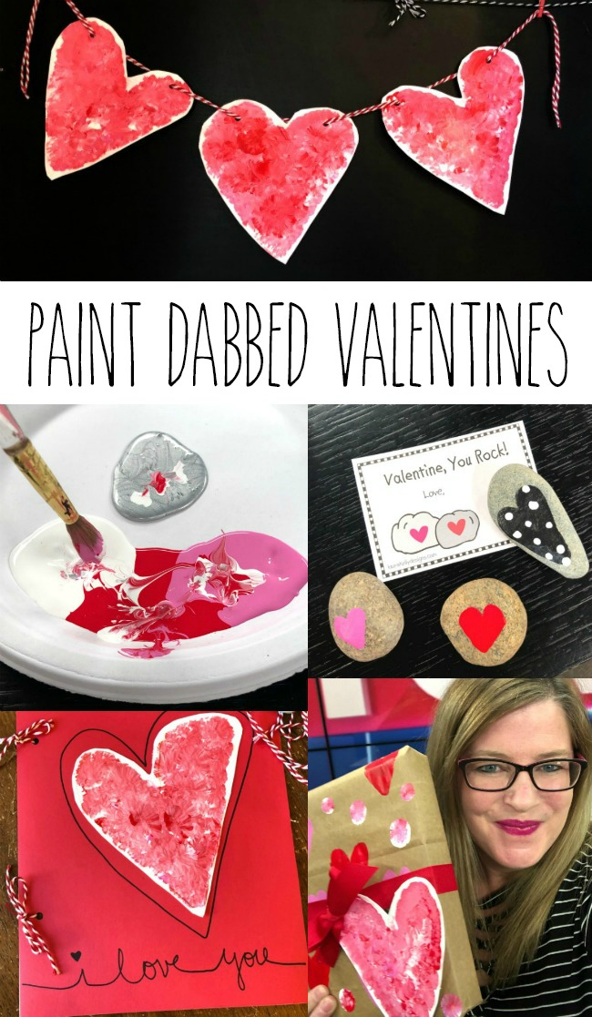 Hand Painted Valentine Decorations and Valentines