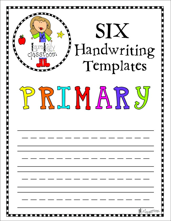 Primary Handwriting Paper Template Free Printable