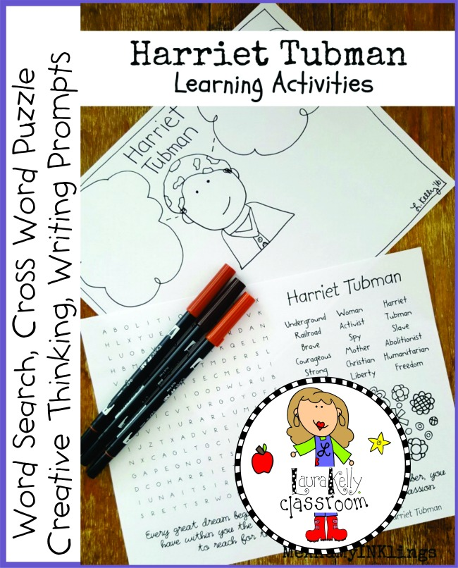 Harriet Tubman FREE Printable Activities Pack