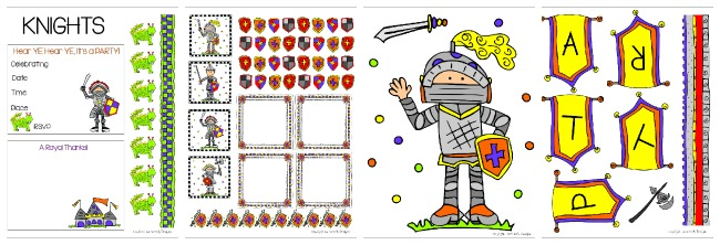 Knights Party Printable Free