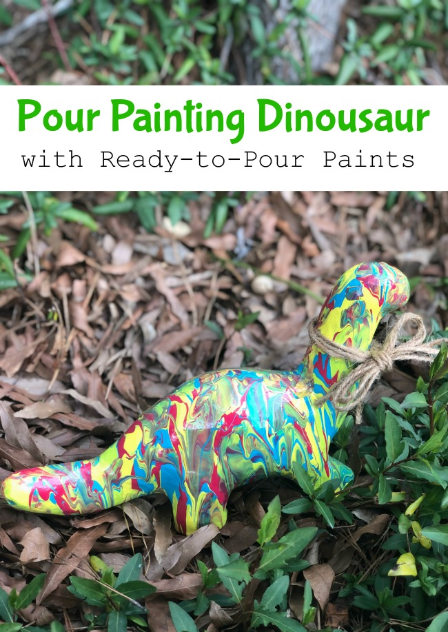 Pour Painting Dinosaur with Ready to Pour Paints