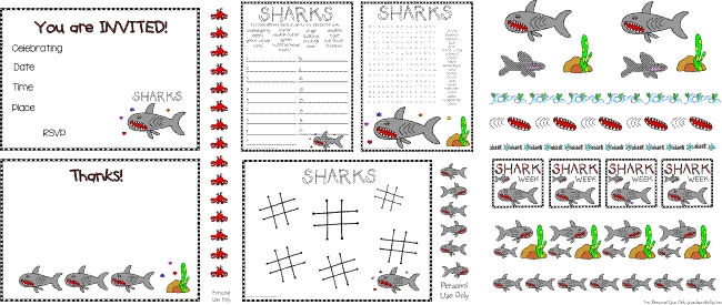 Laura Kelly Printable Shark Party FREE