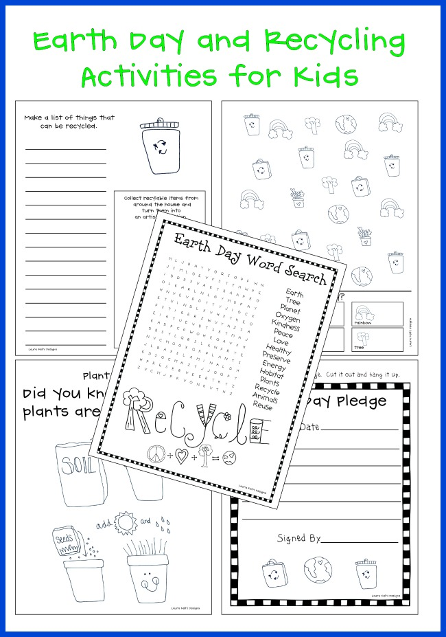 Earth Day and Recycling FREE Printable Activities