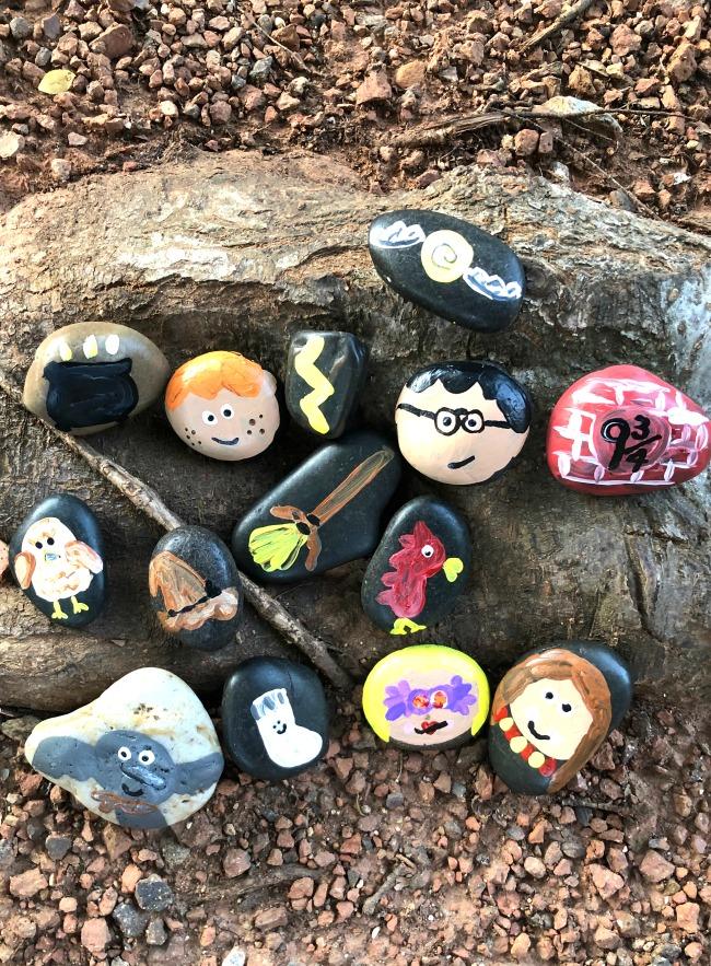Harrry Potter Painted Rocks