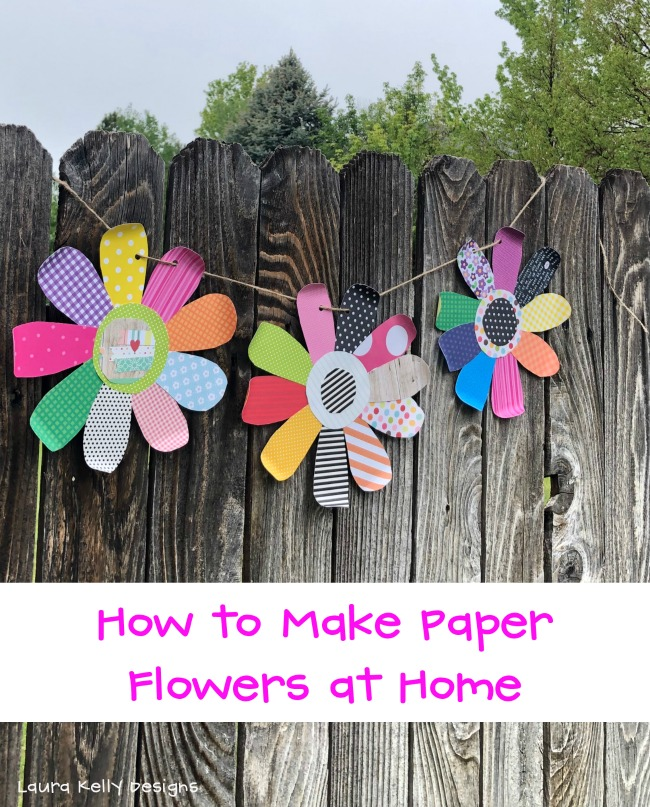 How to Make Paper Flowers at Home Step by Step