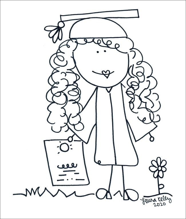 Graduation Coloring Pages - Laura Kelly's Inklings
