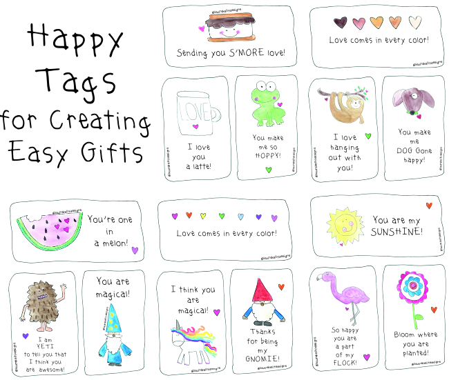 Happy Tags for Creating Easy Gifts