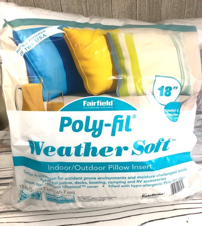 PolyFil Outdoor Pillow Insert