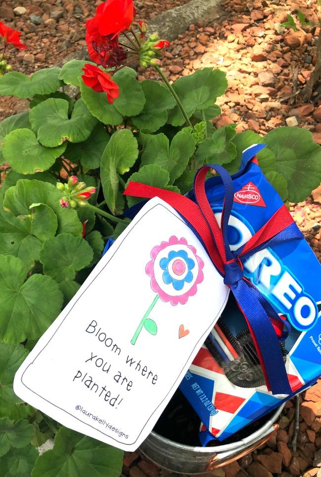 Printable Gift Tag Happy Flower Patriotic